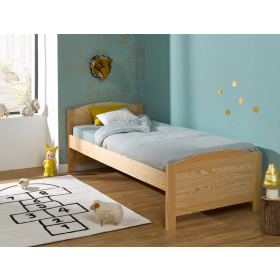 Lit Enfant Opale en Pin Naturel 90X200