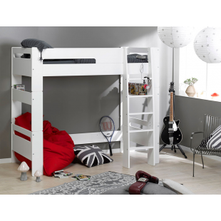 Lit mezzanine enfant London Blanc 90x190 cm (disponible à partir du 19 mai 2021)